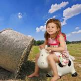 Mucca gonfiabile Kidzzfarm