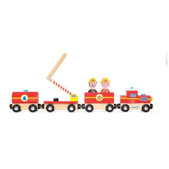 Treno Pompieri in legno Janod