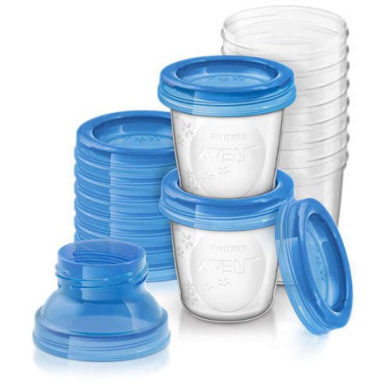 Set contenitori per latte materno Sistema VIA Philips Avent