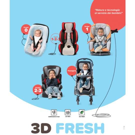 Seduta estiva copriseggiolino 3D Fresh Fantasy Loppiano gruppo 1-2-3