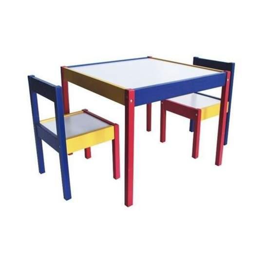 Set tavolino bambini + 2 sedie Rainbow Colibrì