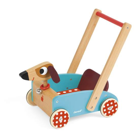 Carretto in legno Crazy Doggy Janod
