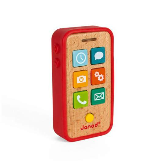 Telefono Giocattolo Sonoro in legno Janod