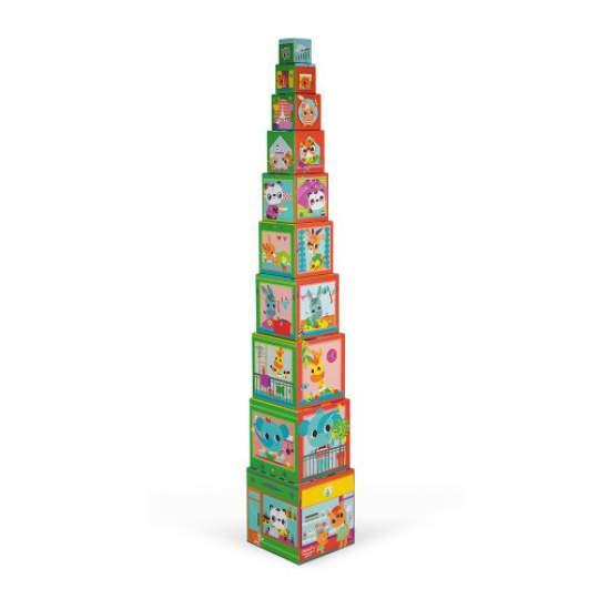 "Piramide in Cartone Quadrata ""City Friends"" Janod"