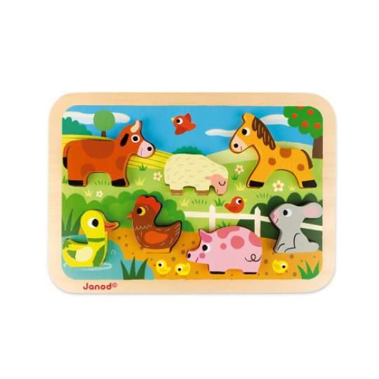 """Puzzle """"Imparo a Contare"""" Janod in legno e cartone"""