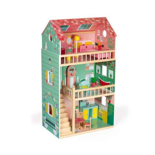 Maxi Casa delle Bambole in legno Happy Day Janod