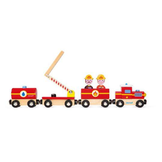 Story Treno Pompieri in legno Janod