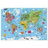 Puzzle Gigante Mappa del Mondo 300 pezzi Janod
