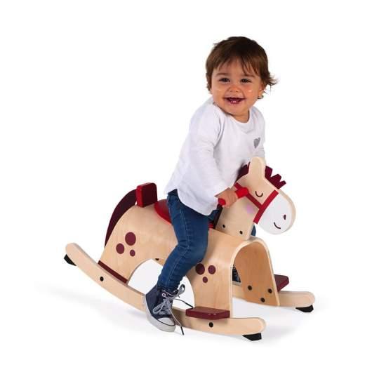 Cavallo a Dondolo in Legno Janod Dai 12 Mesi