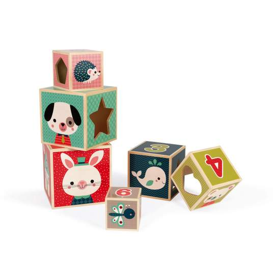 Piramide Baby Forest 6 Cubi Janod