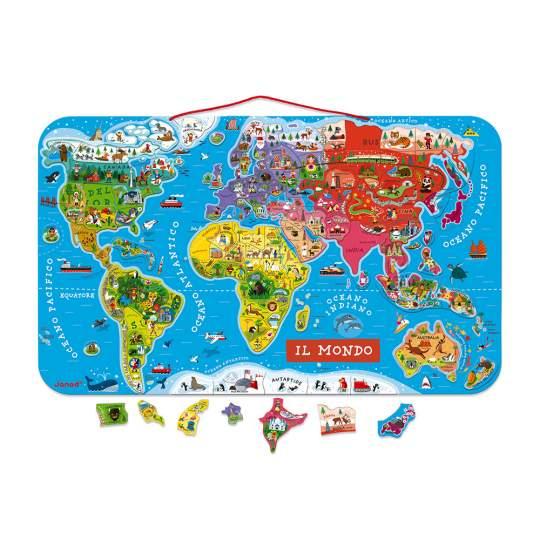 Puzzle Magnetico Mondo Janod 92 pezzi