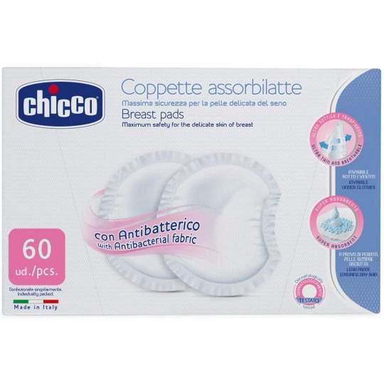 Coppette Assorbilatte Chicco Con Antibatterico 60 Pezzi